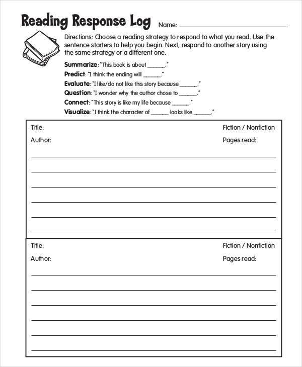 reading response log1
