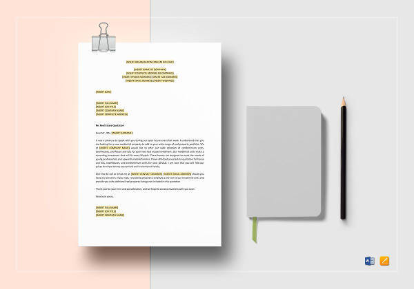 real estate quotation template