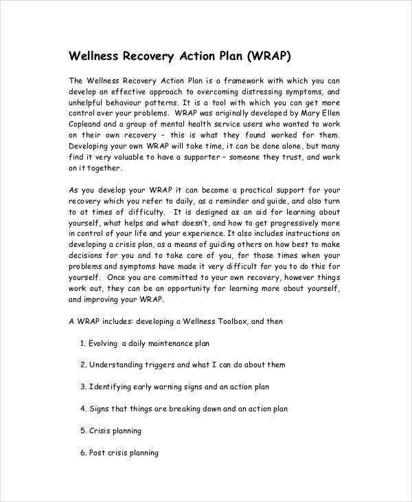 recovery action plan template - 33 sample plan templates sample templates