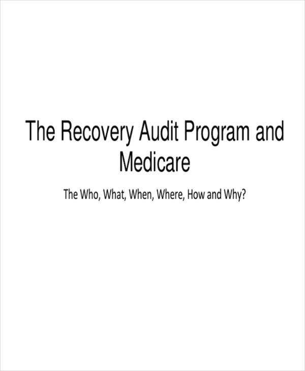 recovery audit