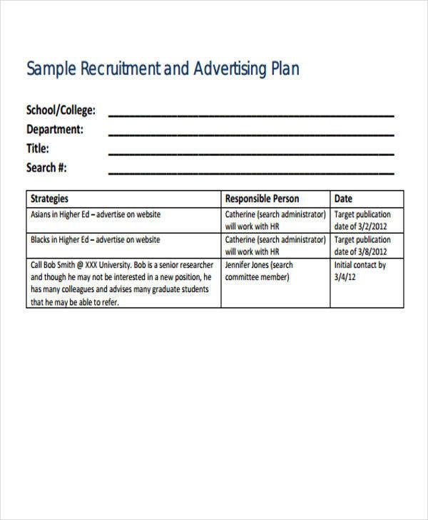 recruitment advertising