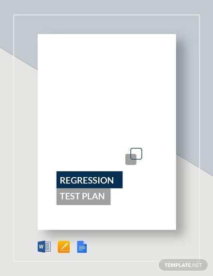 regression test plan