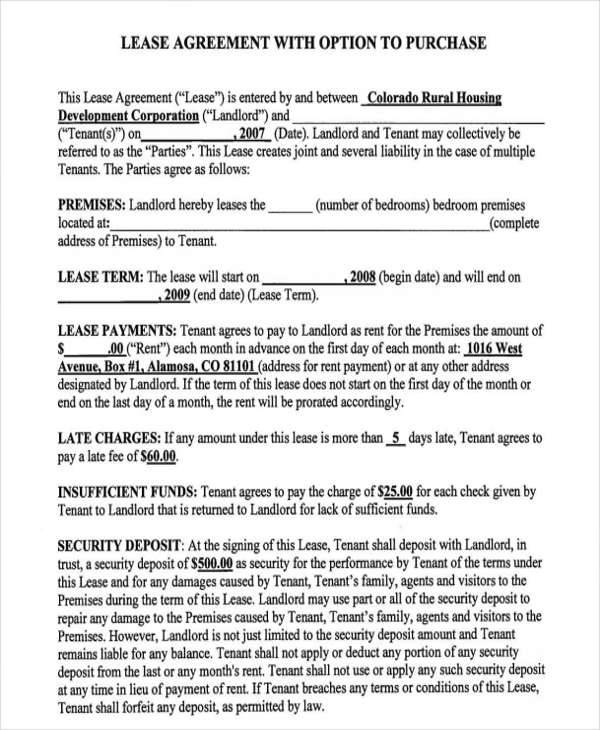 7+ Rent-to-Own Home Contract - Free Sample, Example, Format Download