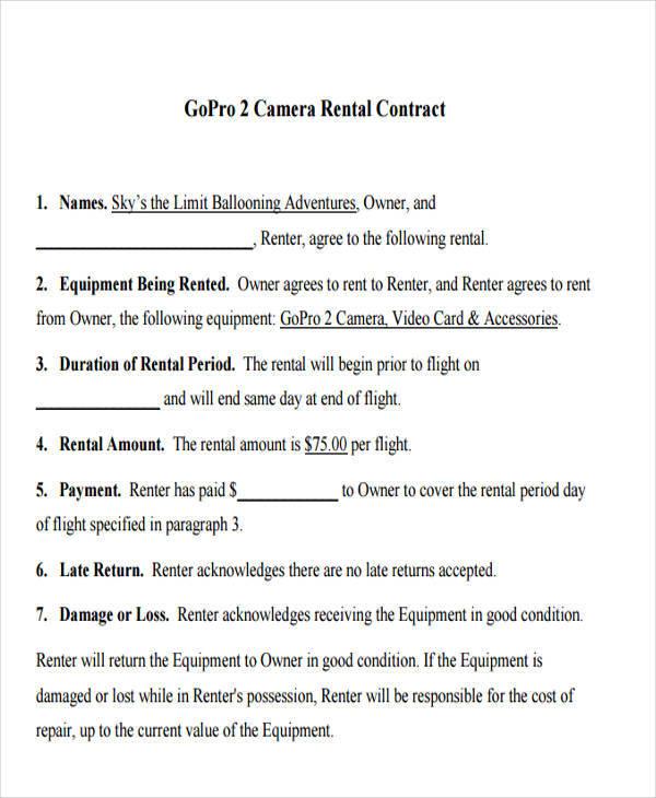 rental equipment contract3