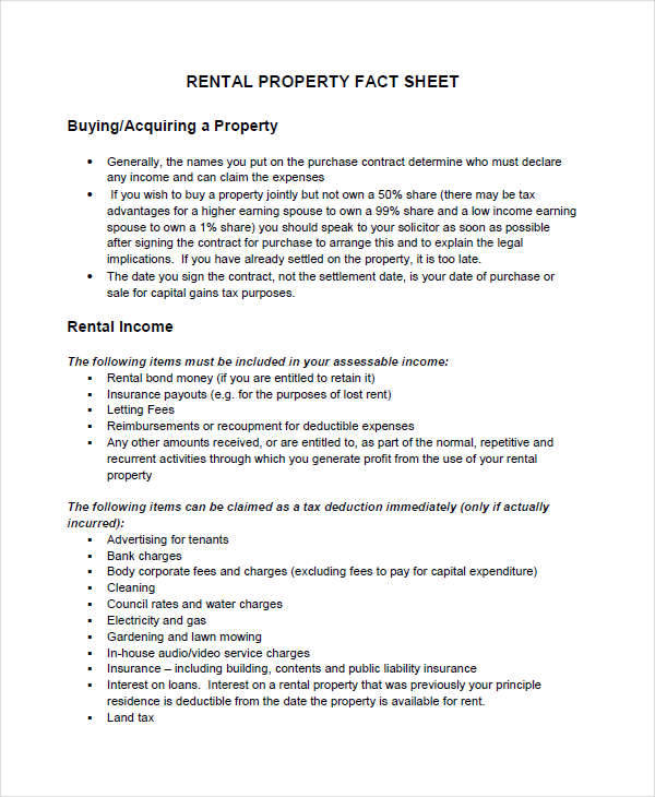 how to write a fact sheet