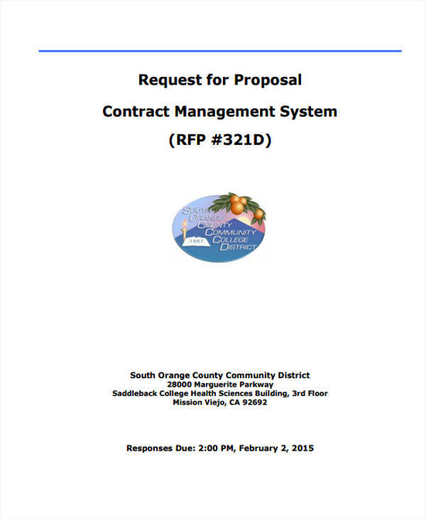 request for proposal contract