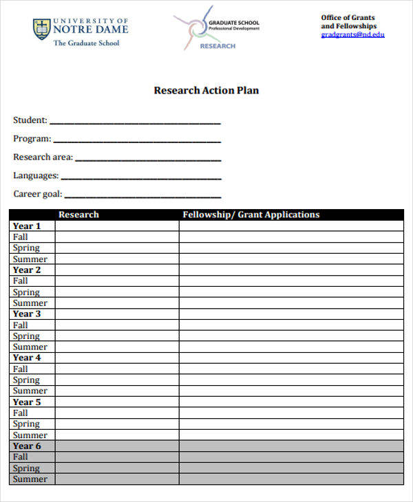 6+ Research Plan Templates - Free Sample, Example, Format Download