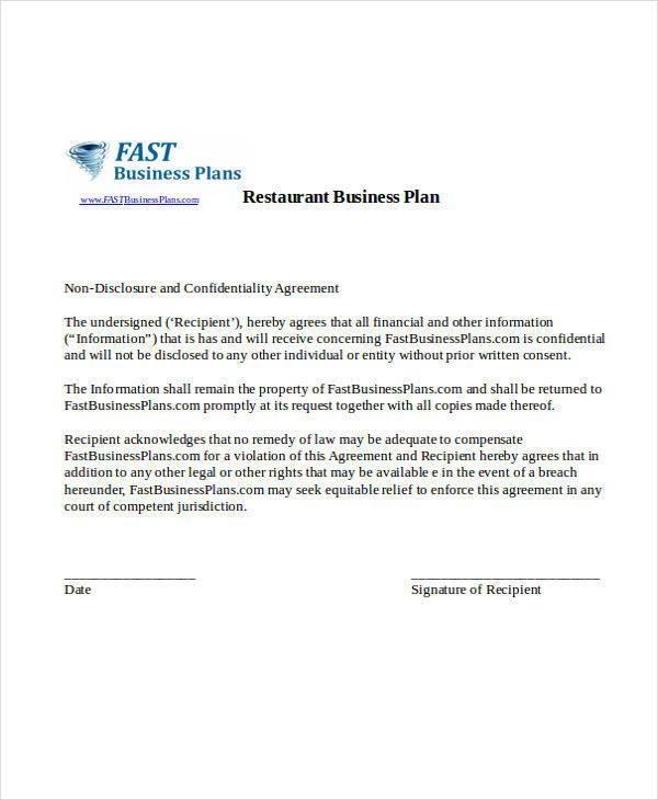 restaurant business plan2