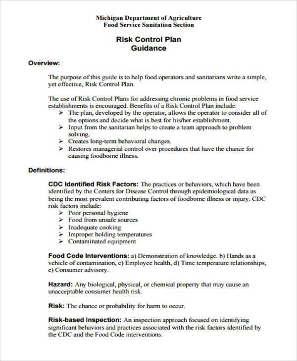 risk control plan2