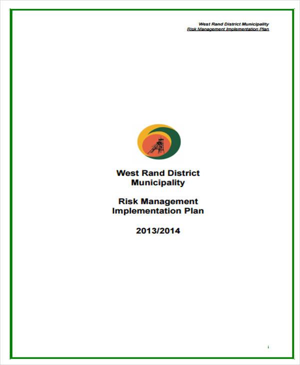 risk management implementation plan