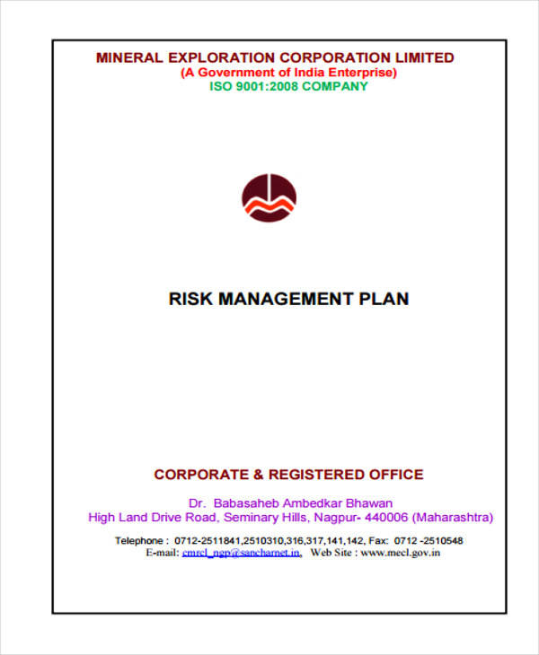 risk plan example