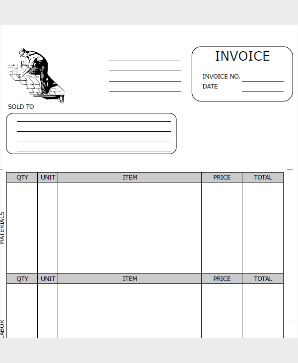 roofing company receipt