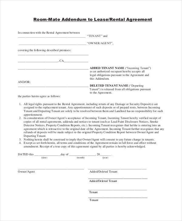 9 Room for Rent Contracts Free Documents in Word PDF – Room for Rent Contract