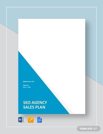 seo agency company sales plan template