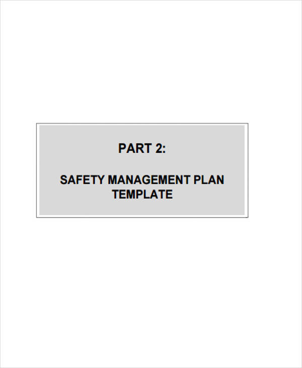 safety management plan