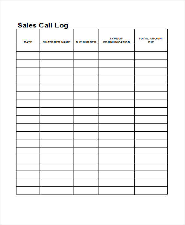 Log Templates In Excel