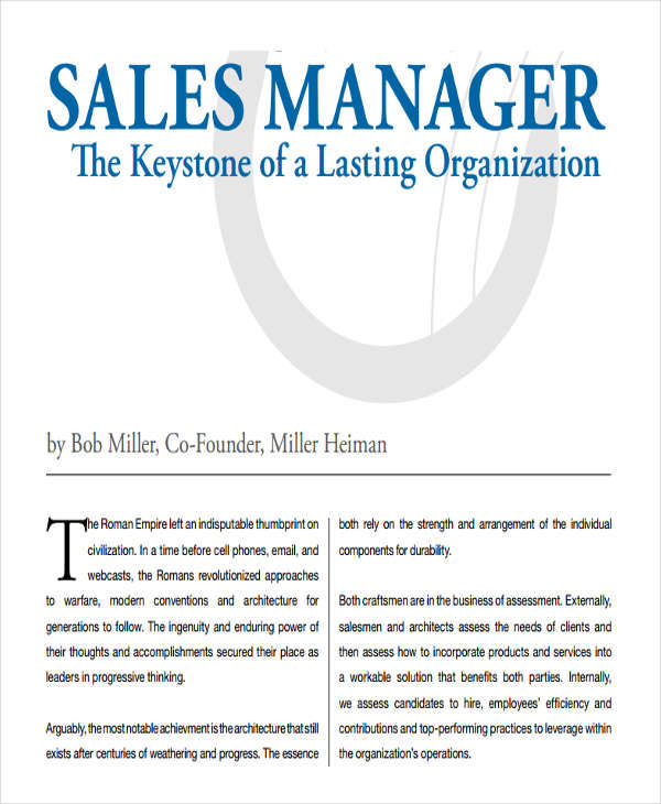sales manager development plan