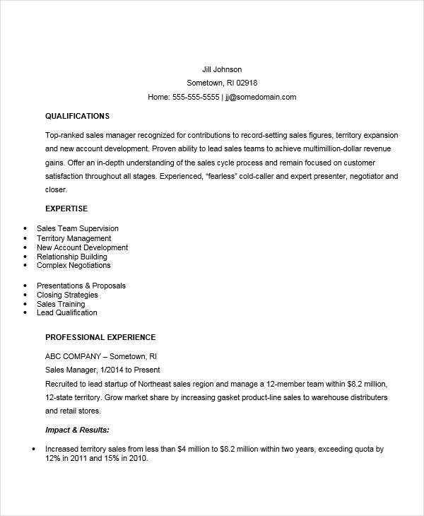 44 manager resume exle