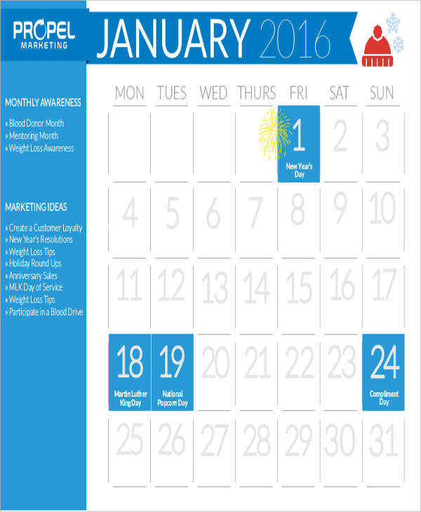 sales marketing calendar