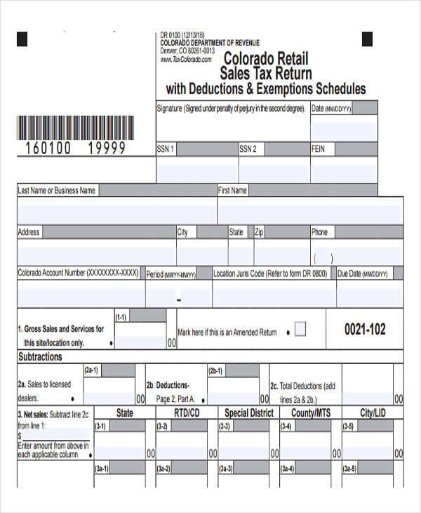 sales tax receipt for deduction