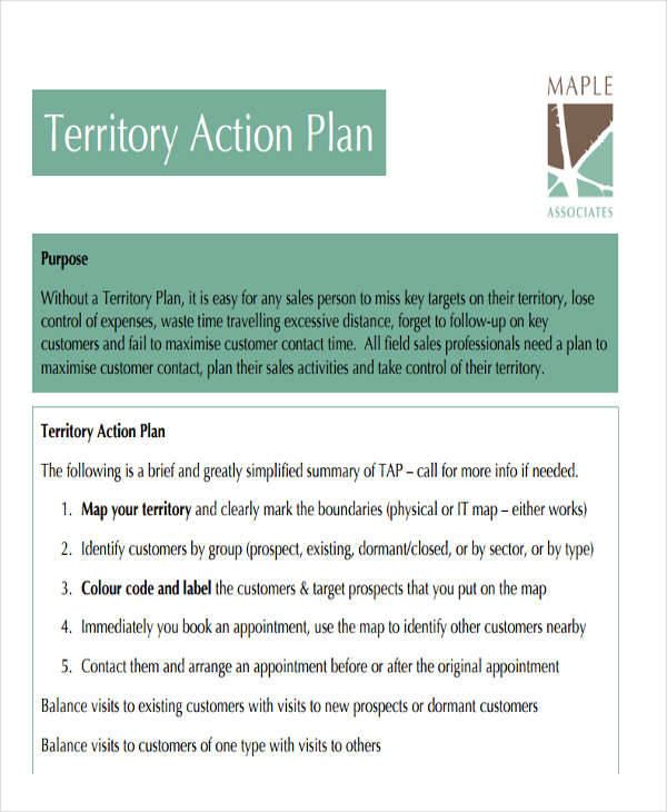 27 sales plan examples sample templates for Sales territory plan template