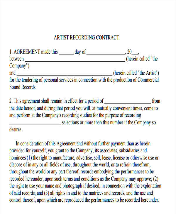 46 Sample Contract Templates