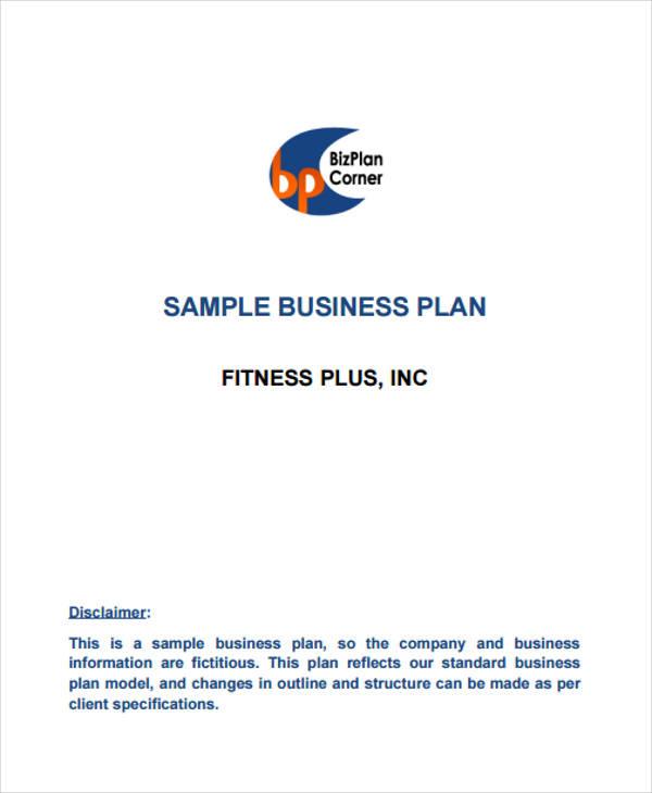 sample company plan
