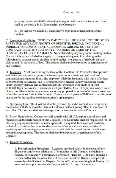sample contract templates in pdf