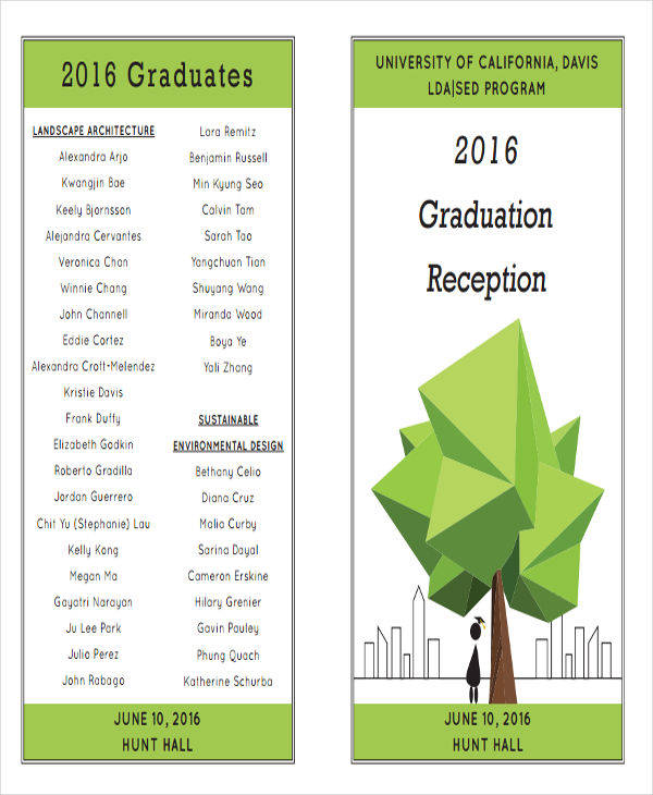 Graduation Program Templates  Examples In Word Pdf