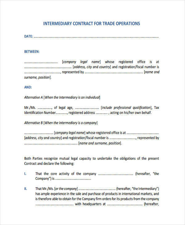 Sample Operations Contract