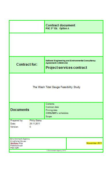 sample project contract in ms word