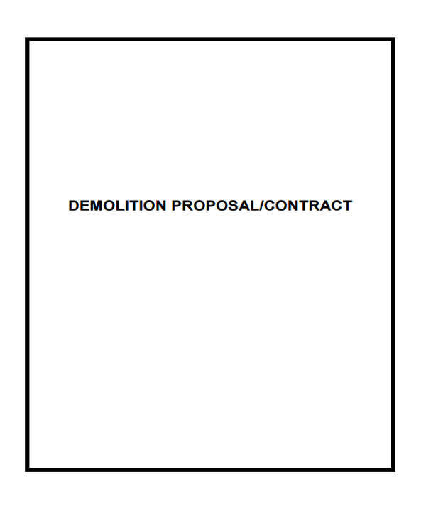 7+ Proposal Contract Template - Free Sample, Example, Format Download