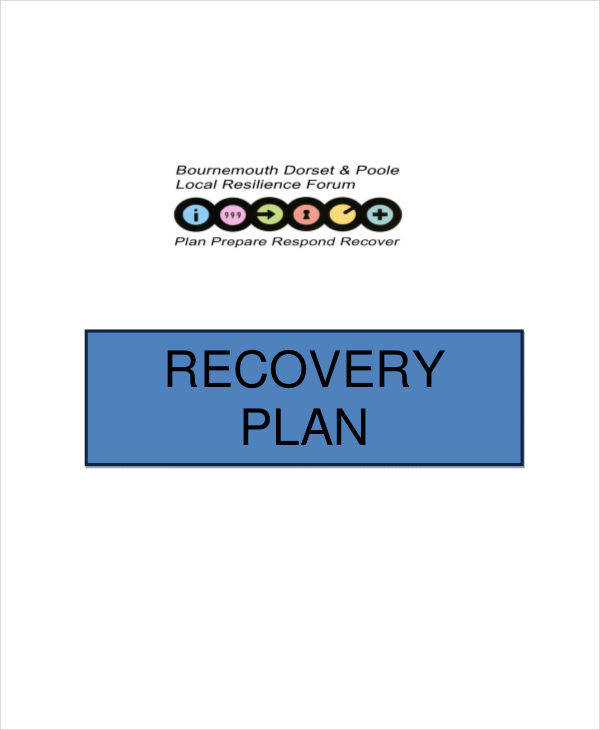Recovery Plan Examples  In Word Pdf
