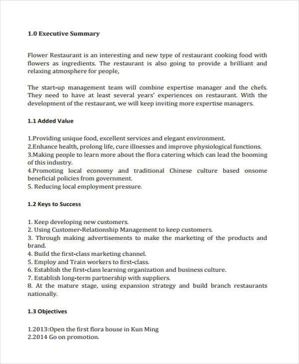 27 business plan templates sample restaurant business plan friedricerecipe Images
