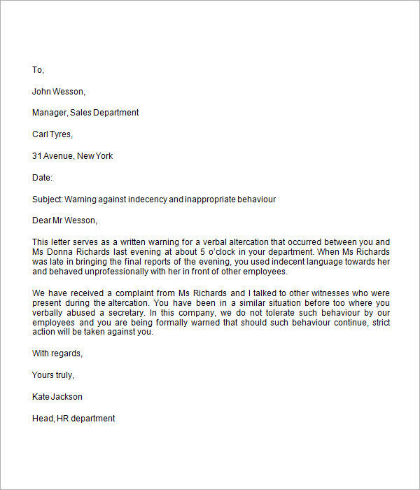 How To Write A Warning Letter For Employee Conduct?