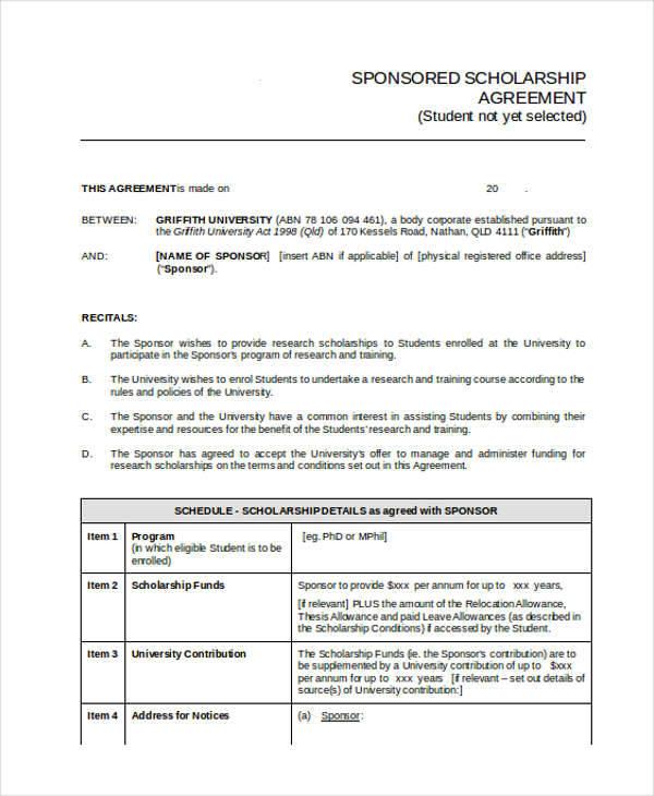 scholarship agreement contract1