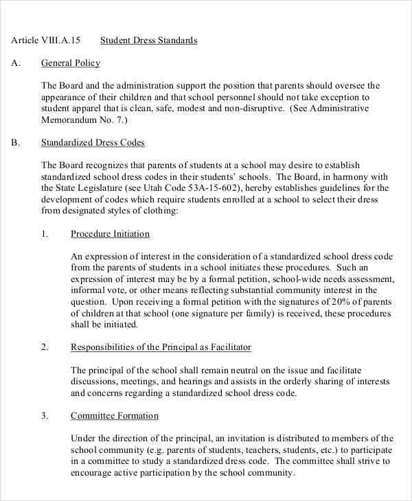 school dresscode petition