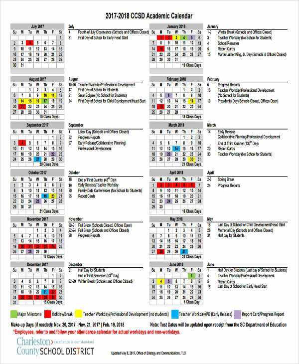 6 School Calendar Templates Examples In Word Pdf