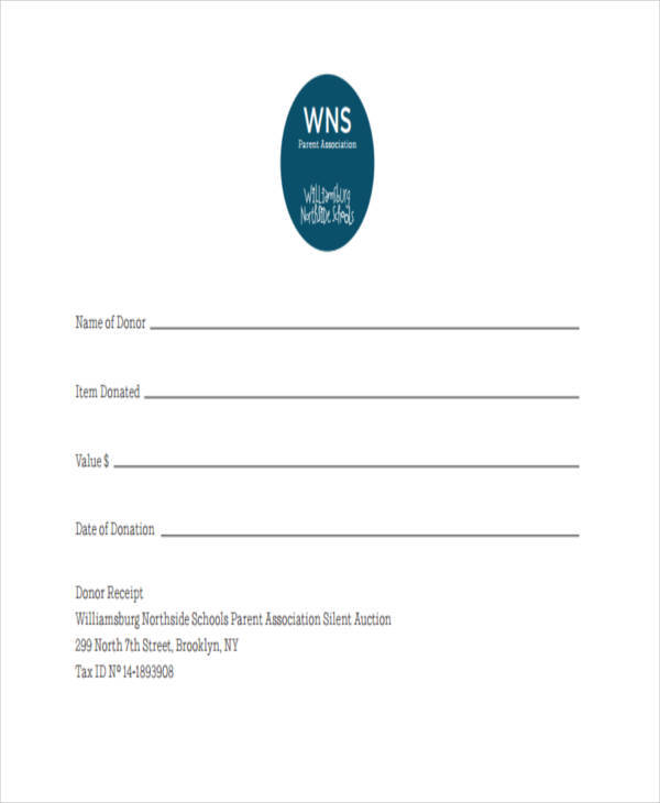 5 fundraiser receipt template free sample example format download