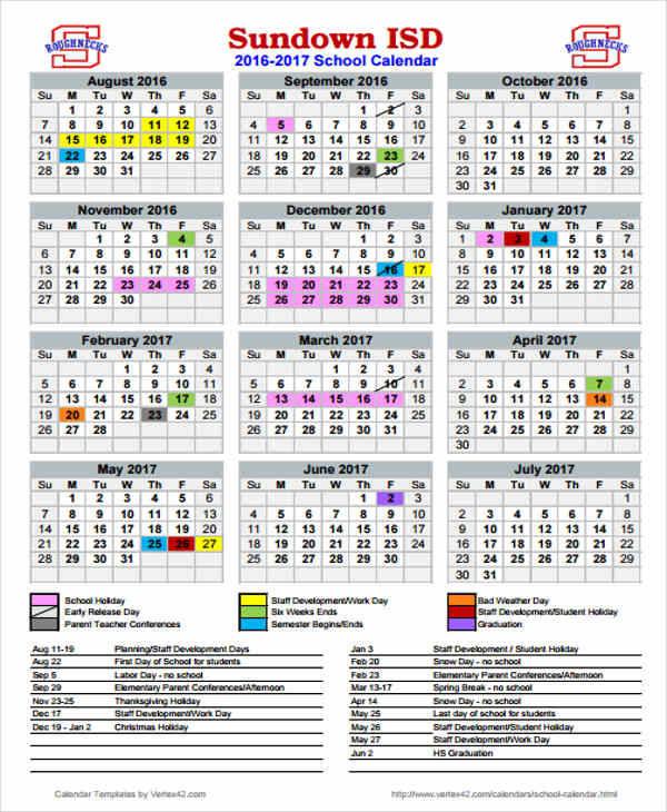 school holiday calendar