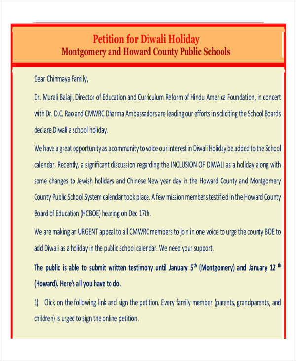 school holiday petition1