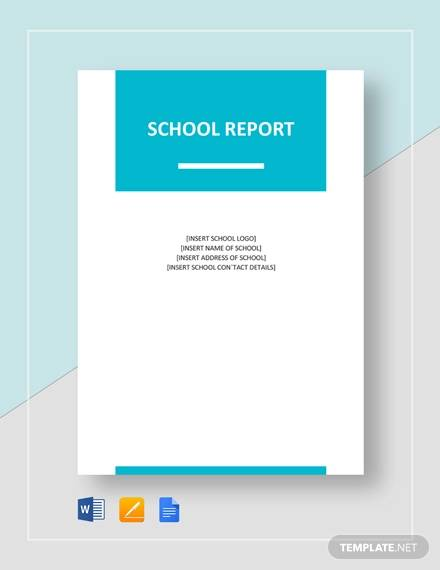 School reports for sale