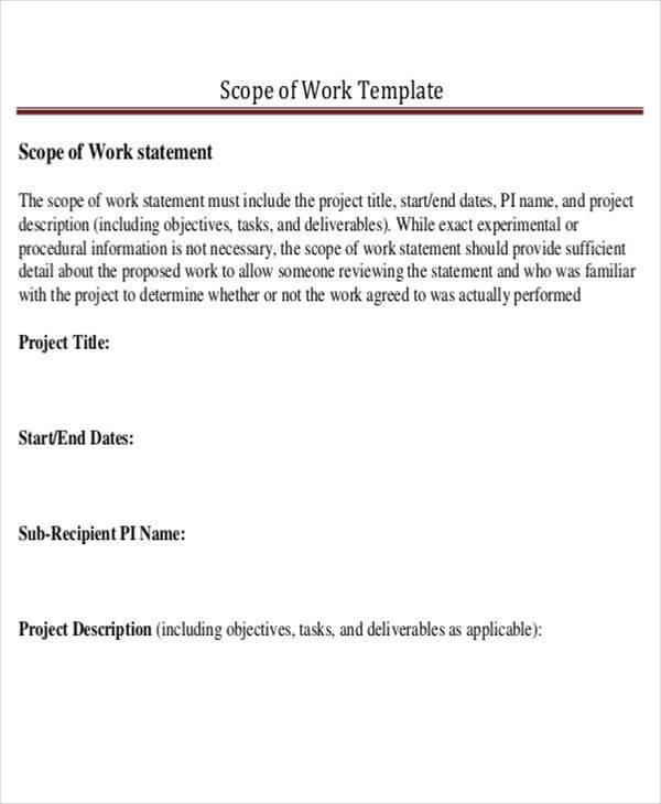 scope of work statement1