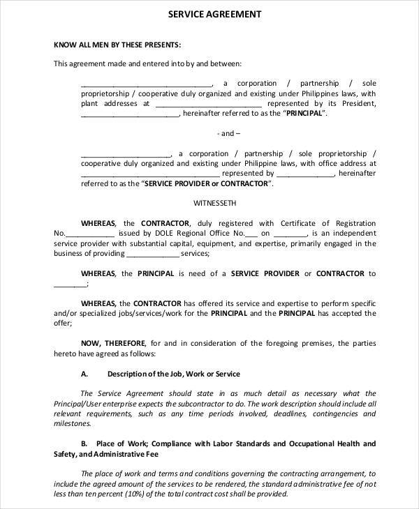 advertising agency and subcontractors contract pdf