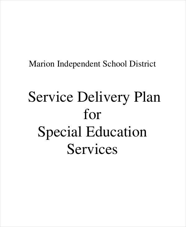 Service Delivery Plan. Marion Isd.org