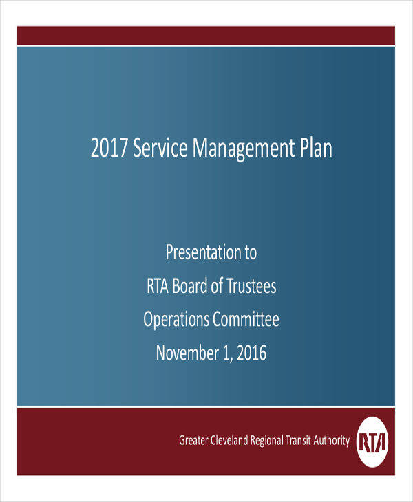 service management plan