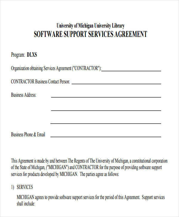14 Service Contract Templates Word Docs Apple Pages