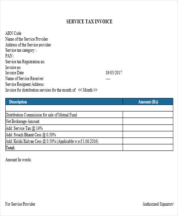 Tax Invoice Templates  Free Sample Example Format Download