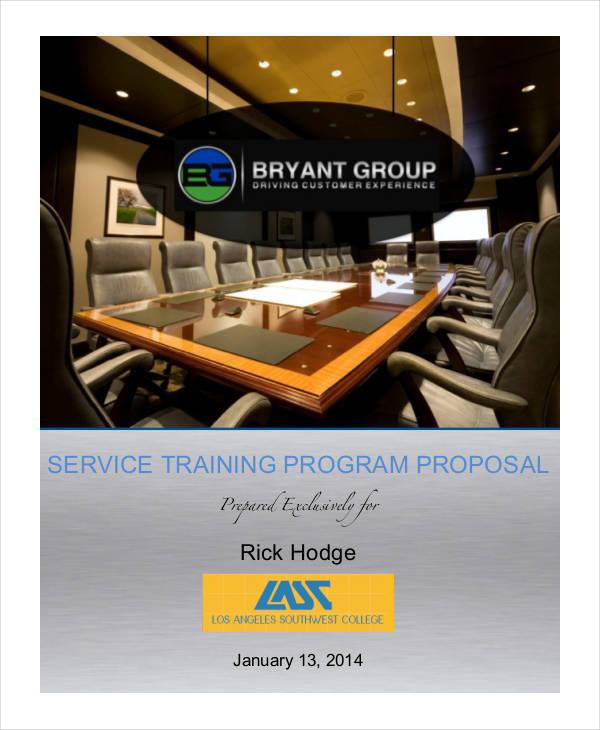 service training proposal