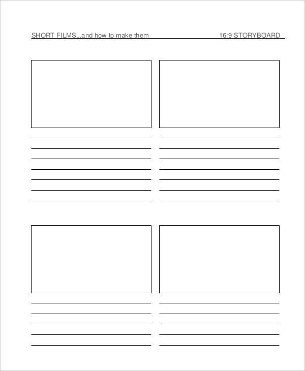 7 film storyboard examples in word pdf sample templates. Black Bedroom Furniture Sets. Home Design Ideas